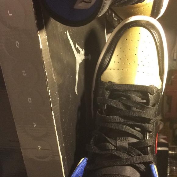 c2202d3093a0d7 Jordan Other - Air Jordan retro 1 blk gold n red.